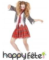 Déguisement d'écolière zombie pour femme