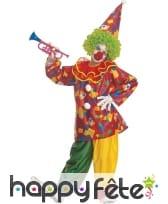 Déguisement d'enfant clown coloré