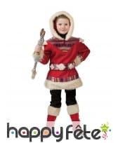 Déguisement d'esquimau rouge pour enfant