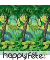 Décor de forêt tropicale