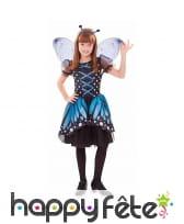 Déguisement de fée papillon bleu pour enfant