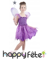 Déguisement de fée violette pour enfant