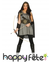 Déguisement de femme archer médiéval
