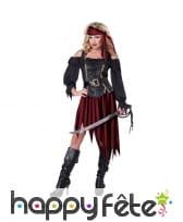 Déguisement de femme pirate authentique