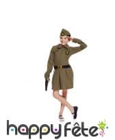 Déguisement de fillette soldat
