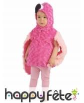 Déguisement de flamant rose en peluche pour enfant