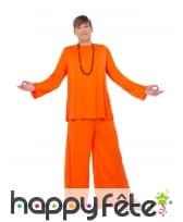Déguisement de gourou orange pour homme