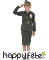 Déguisement deuxième guerre mondiale pour fille