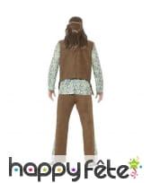 Déguisement de hippie, gilet à franges marron, image 2