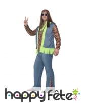 Déguisement de hippie grande taille pour homme, image 1
