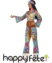 Déguisement de Hippy fleuri pour femme, image 1