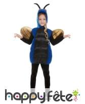 Déguisement d'insecte bleu pour enfant