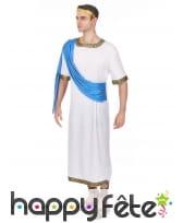 Déguisement de Jules César avec toge bleue, image 1