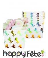 Déco de licorne scintillante colorée pour table, image 3