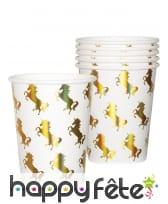 Déco de licorne scintillante colorée pour table, image 5
