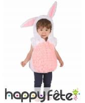 Déguisement de lapin en peluche pour enfant