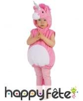 Déguisement de licorne rose pour enfant