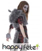 Déguisement de loup garou à carreaux pour fille, image 2