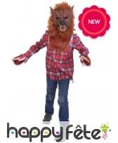 Déguisement de loup garou avec masque pour enfant
