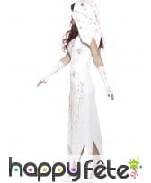 Déguisement de mariée zombie blanche, image 2