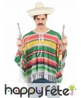 Déguisement de mexicain multicolore pour adulte, image 1