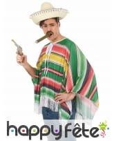 Déguisement de mexicain multicolore pour adulte, image 2