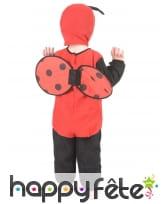 Déguisement de mini coccinelle rouge pour enfant, image 3