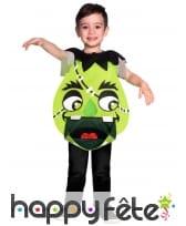Déguisement de monstre vert rigolo pour enfant
