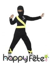 Déguisement de ninja noir pour enfant