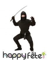 Déguisement de ninja noir uni pour enfant