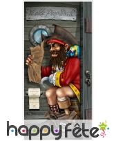 Déco de porte Pirate sur le pot