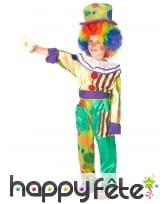 Déguisement de petit clown multicolore à motifs, image 1