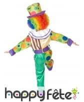 Déguisement de petit clown multicolore à motifs, image 2