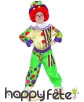 Déguisement de petit clown multicolore à motifs, image 3