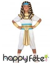Déguisement de petit pharaon blanc doré