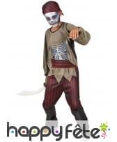 Déguisement de petit pirate zombie pour garçon
