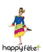Déguisement de petite brésilienne folklorique