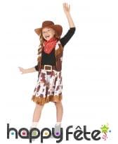 Déguisement de petite cowgirl imprimé vachette, image 1