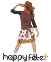 Déguisement de petite cowgirl imprimé vachette, image 2