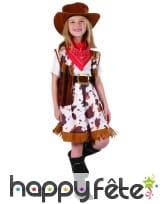 Déguisement de petite cowgirl imprimé vachette, image 3