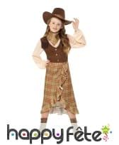 Déguisement de petite CowGirl marron pour enfant