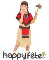Déguisement de petite indienne marron et rouge, image 1