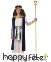 Déguisement de pharaon bleu blanc pour enfant, image 1