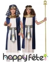 Déguisement de pharaon bleu blanc pour enfant