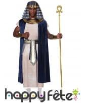 Déguisement de pharaon bleu blanc pour homme, image 1