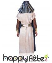 Déguisement de pharaon bleu blanc pour homme, image 3
