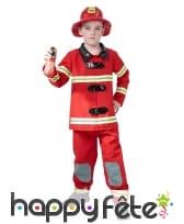 Déguisement de pompier rouge pour enfant