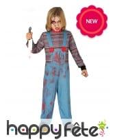 Déguisement de poupée tueuse pour enfant