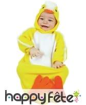 Déguisement de poussin jaune pour bébé