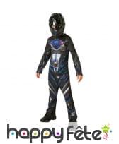 Déguisement de Power Ranger noir pour enfant